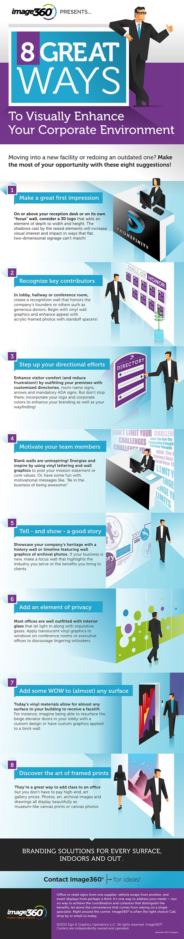 Image360 Infographic on 8 Great Ways to Visually Enhance Your Corporate Environment